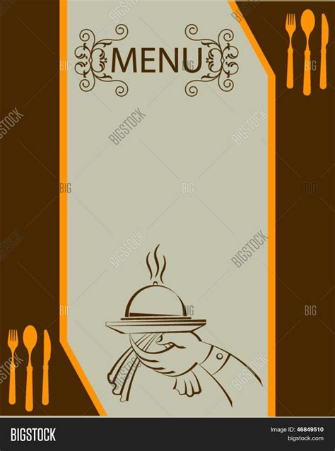menu card design template vector free hotel menu card design vector photo bigstock