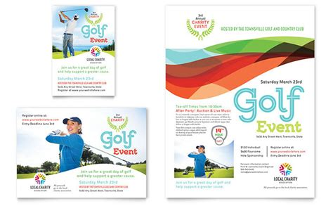 microsoft event templates charity golf event flyer ad template word publisher