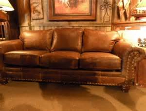 Full Grain Leather Reclining Sofa Rustic Leather Sofa Western Brown Leather Couch