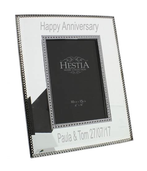 engraved glass photo frame a1 personalised gifts
