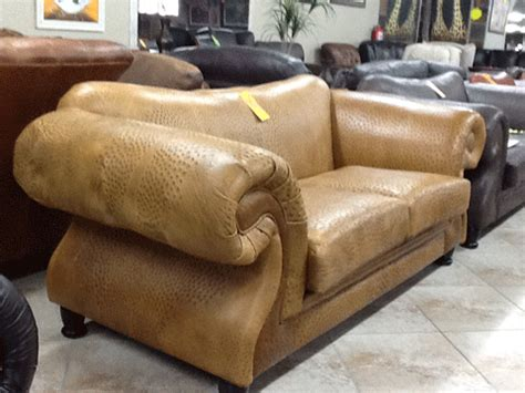 ostrich leather couch furnworld international