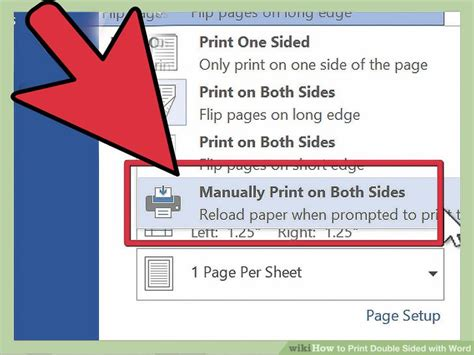 how to print a two sided document using microsoft word or 3 ways to print double sided with word wikihow