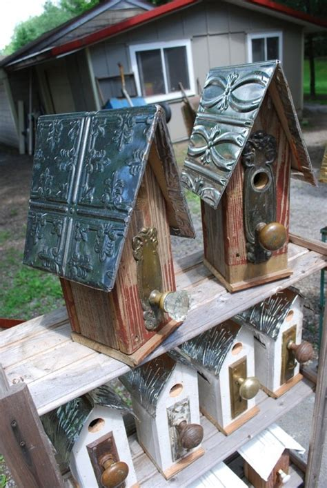 tin roof  absolutely fantastic birdhouses