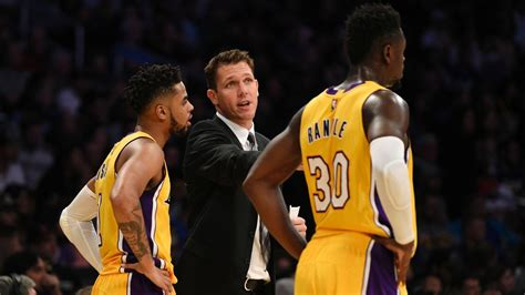 lakers couch los angeles lakers head coach luke walton shows team he