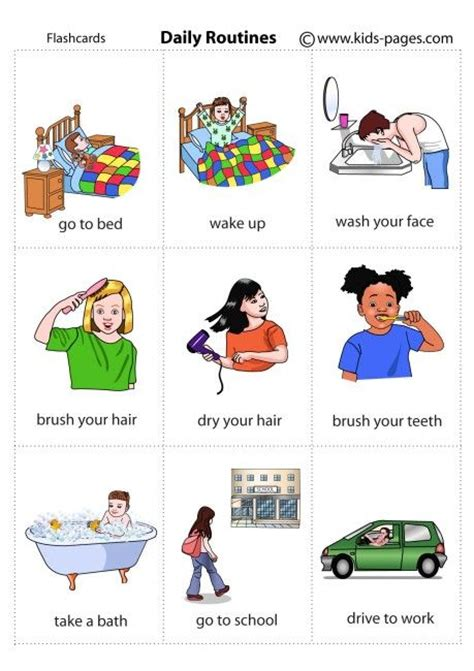 Do You Wash Hair After Coloring - english vocabulary daily routines 1 esl pinterest a month visual schedules and