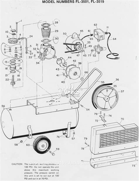 cbell hausfeld fl3501 parts diagram for air compressor parts