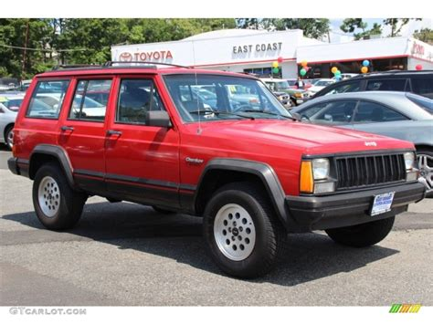 flame red jeep 1994 flame red jeep cherokee sport 4x4 84669325