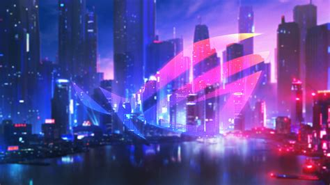 asus rog neon nightfall  wallpapers hd wallpapers id