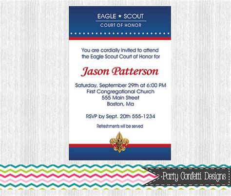 eagle scout court of honor invitation template eagle scout court of honor invitations