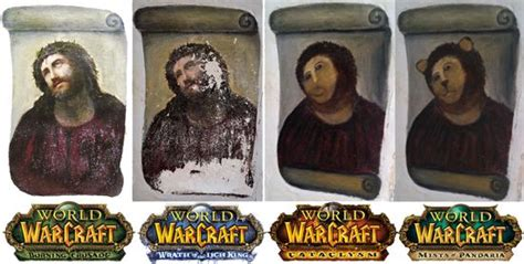 Jesus Fresco Meme - world of warcraft expansions as jesus fresco memes world
