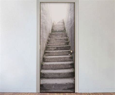 Door Covers by Create An Illusion Of An Imaginary Staircase From Your Doors By Using This Enchanting Of