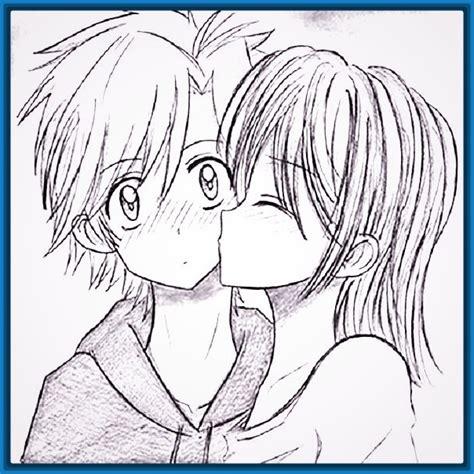 imagenes de amor dandose un beso para dibujar personas archivos dibujos faciles de hacer