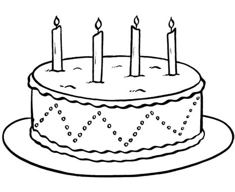 coloring pages birthday cake candles chocolate cake netart