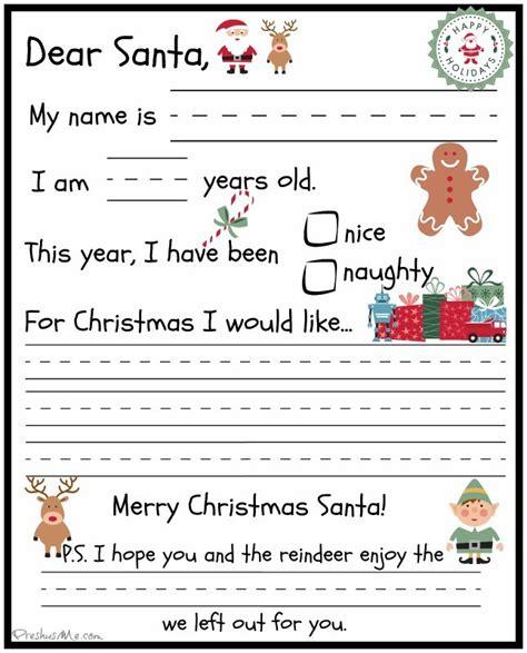 Letter To Santa Template Canada Post | preschooler letter to santa preshusme