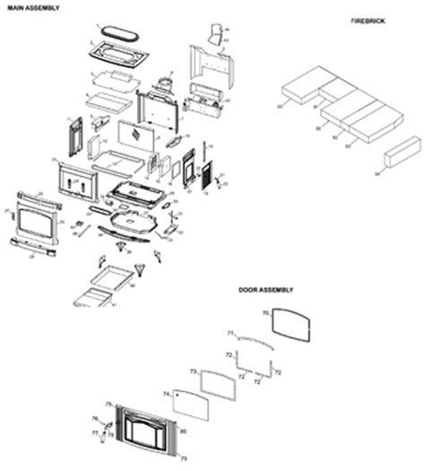warnock hersey fireplace parts warnock hersey pellet stove parts engine diagram and