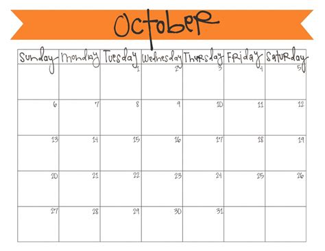 printable calendar october 2016 printable october 2016 calendar