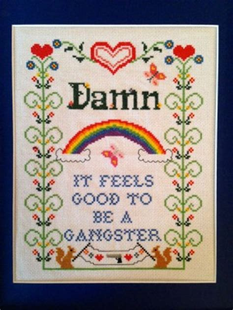mp3 download damn it feels good to be a gangsta cross stitch rap quotes quotesgram