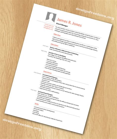 indesign resume template free indesign templates simple and clean resume cv with