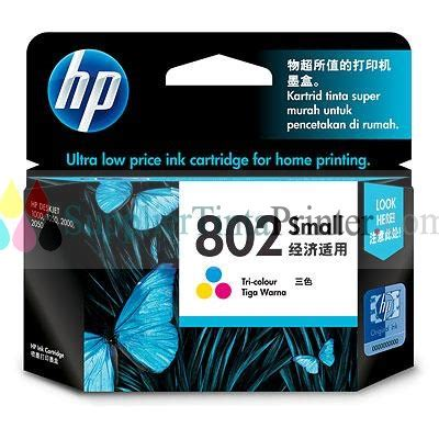 Cartridge Hp 802 Color hp ink cartridge 802 colour