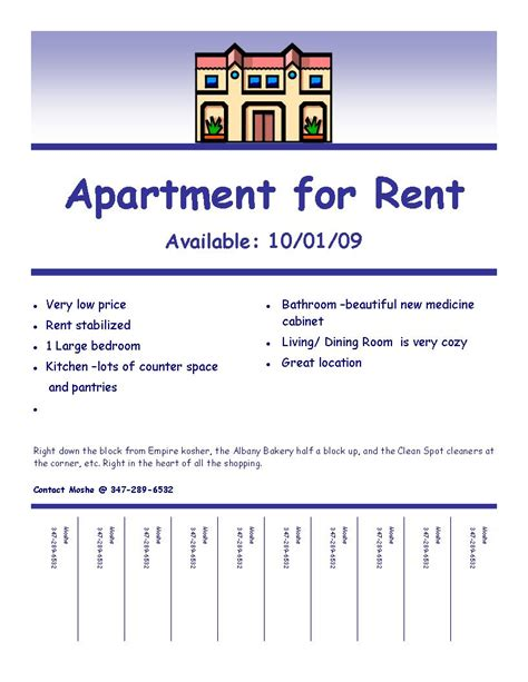 apartment rental flyer template quot fulfilling your creative needs quot