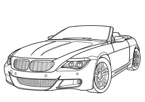coloring pages of bmw cars bmw m6 coloring page supercoloring