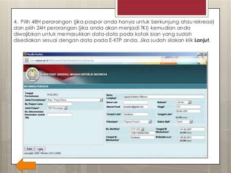 website untuk membuat paspor online cara membuat paspor secara online