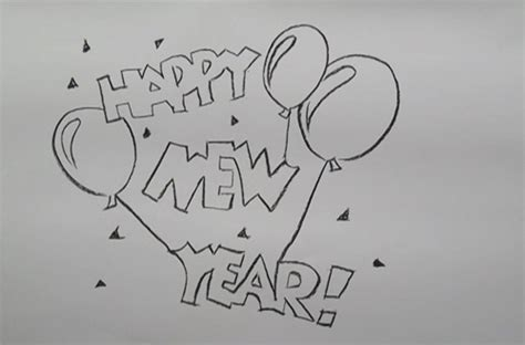 new year drawing happy new year drawing pictures new calendar template site