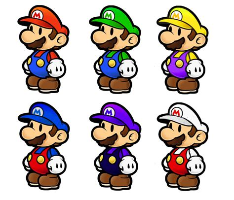 mario colors paper mario smash bros colors by shadowgarion on deviantart