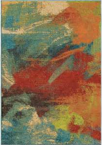 bright multi colored area rugs orian rugs bright color abstract impressions multi area