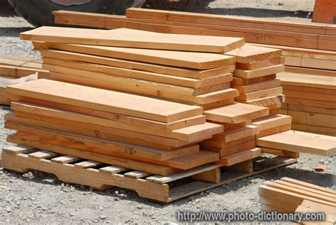 define wood stacks of lumber photo picture definition at photo