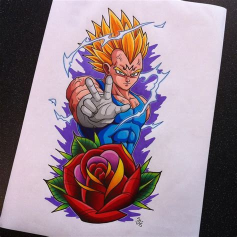 goku tattoo designs majin vegeta design by hamdoggz deviantart on