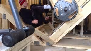 Cheap Workout Bench Our Homemade Leg Press Machine Youtube