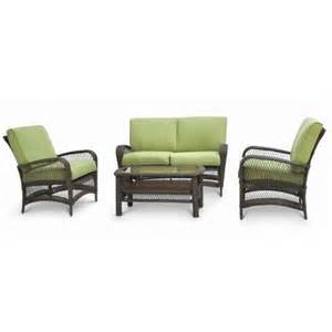 martha stewart patio furniture martha stewart living lanfair 4 conversation set