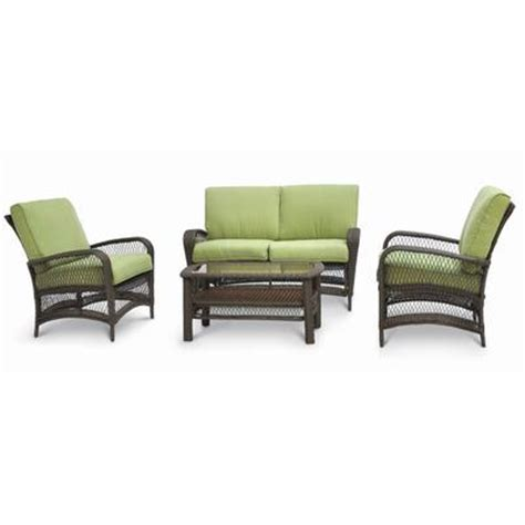 martha stewart patio furniture sets martha stewart living lanfair 4 conversation set