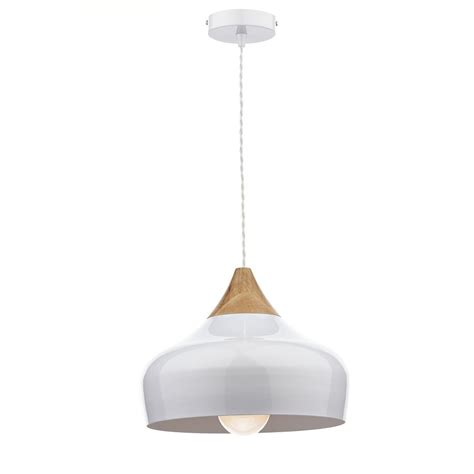 Dar Lighting Gau0102 Gaucho White Ceiling Pendant Light Wooden Ceiling Light