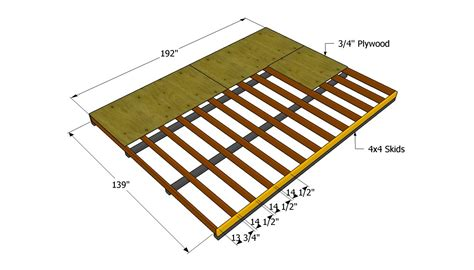 build a floor nyi imas free 12x16 shed plans 24x24