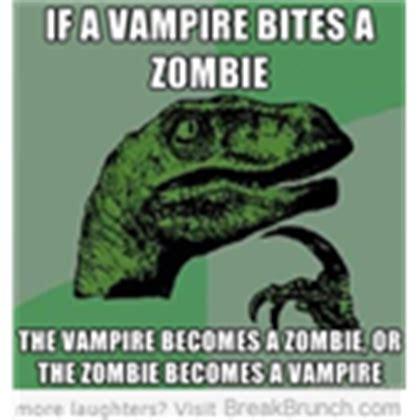 Meme Raptor - zombie or vire funny raptor meme picture zzzomb roblox