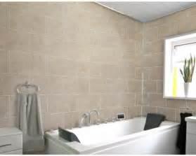 8 beige tile effect dumalock wall panels bathroom kitchen