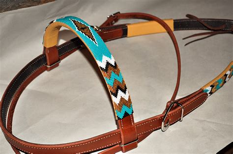 beaded headstalls product details quot chimayo quot beaded headstall custom