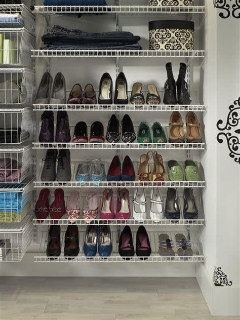 Closetmaid Wire Shoe Rack Shoes Shoes Shoes Contemporary Closet Storage