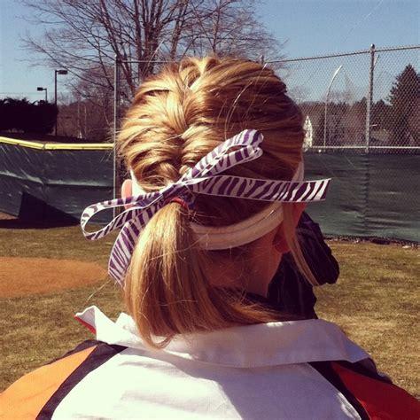hairstyles for softball games ribbon thursday softball hair softball