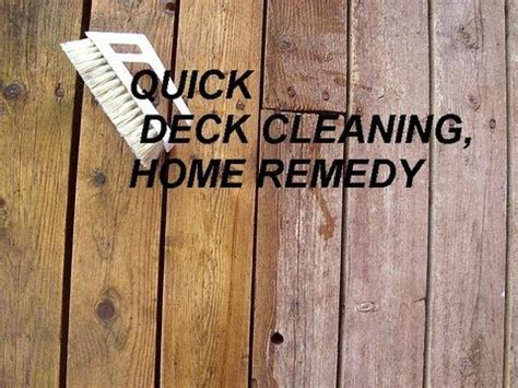 Solution To Clean Deck by Deck Cleaner Household Remedy Chlorine