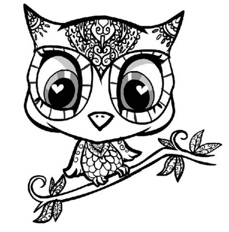 cartoon owl coloring pages to print coloring page love