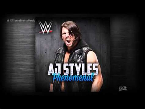 theme song aj styles wwe quot phenomenal quot itunes release by cfo aj styles new