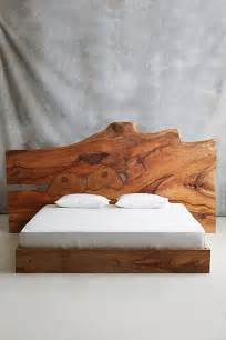 Wood Bed Frame Live Edge Live Edge Wood King Beds And Beds On