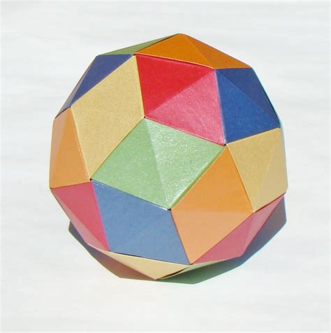 Dodecahedron Paper Folding - origami diagrams pentakis dodecahedron