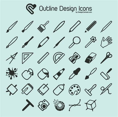 design icon free free outline design icons at designcontest