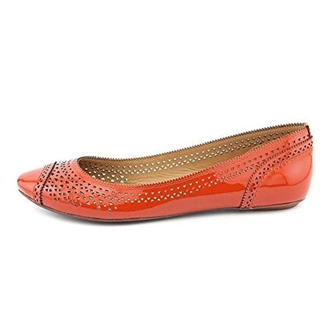 aerin belnord womens size 8 orange leather flats shoes ebay