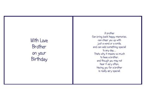 free printable birthday card inserts 6x6 brother birthday card verses pinterest brother