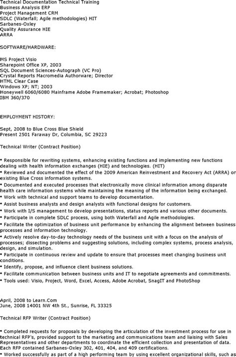 Technical Writer Resume Templates   Download Free